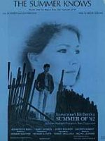 The Summer Knows - sheet music cover